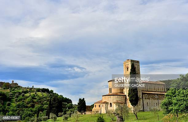 A view of the Abbey of Sant'Antimo in Montalcino near Siena Italy on May 4 2014 AFP PHOTO / GIUSEPPE CACACE