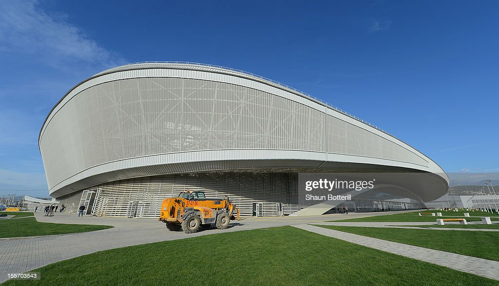 A view of the Adler Arena venue for Speed Skating at the 2014 Winter Olympics on November 6, 2012 in Sochi, Russia.