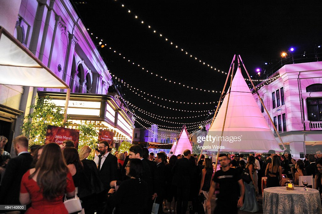 A view of the after party during the 25th annual EMA Awards presented by Toyota and Lexus and hosted by the Environmental Media Association at Warner...