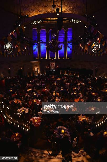 A view of the after party for the Tibet House US 30th Anniversary Benefit Concert Gala to celebrate Philip Glass's 80th Birthday at Gotham Hall on...