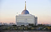 View of the Ak Orda Presidential Palace in Kazakhstan's new capital Astana October 12 2010 The Palace was built in 2004 of monolithic concrete as a...
