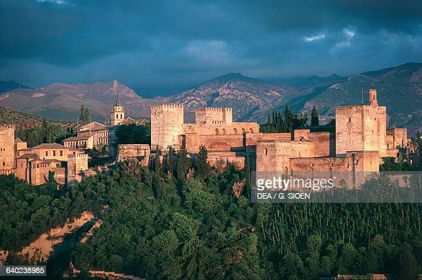 View of the Alhambra Granada Andalucia Spain 13th15th century
