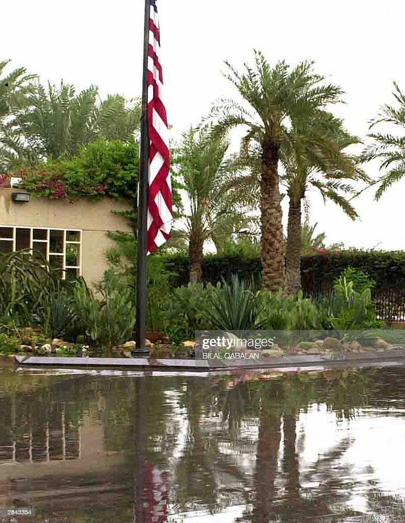 A view of the American Embassy in the Saudi capital Riyadh taken January 2002 AFP PHOTO/Bilal QABALAN