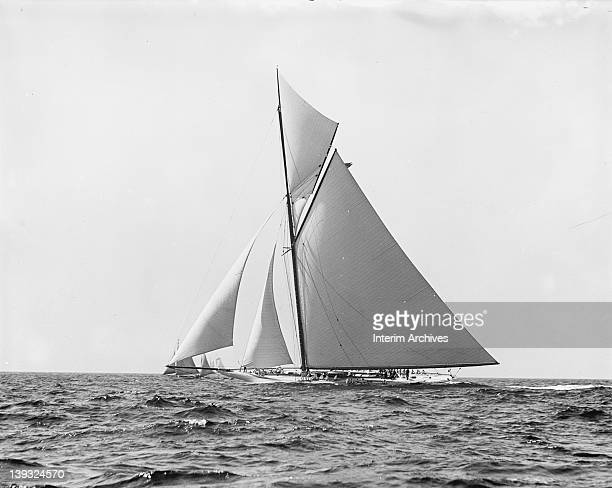 View of the America's Cup defender the sloop Reliance prior to the start of the race August 22 1903