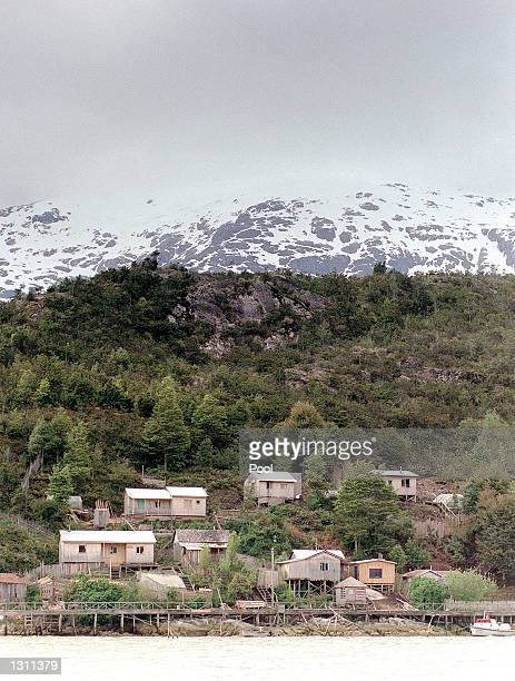A view of the Andes mountains and the village of Tortel where Prince William is visiting with the Raleigh International expedition team December 7...