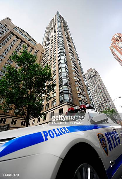 View of the apartment building in New York on May 20 2011 where former International Monetary Fund chief Dominique StraussKahn reportedly will spend...