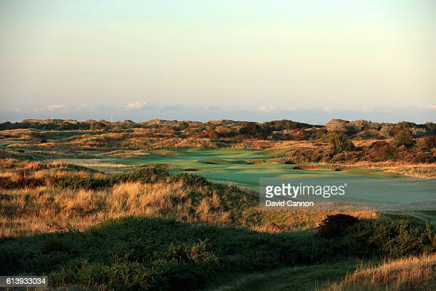 A view of the approach to the green on the 544 yards par 5 15th hole at Royal Birkdale Golf Club the host course for the 2017 Open Championship on...