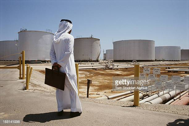 A view of the Aramco oil refinery in Saudi Arabia 1990