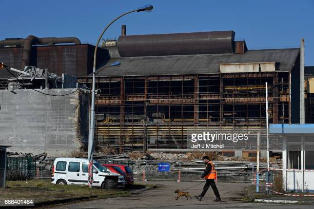 A view of the ArcellorMittal steelworksclosed in 2009 which are now being demolished on February 14 2017 in GandrangeFrance The people of the French...