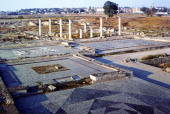 View of the archaeological remains at Pella birthplace of Alexander the Great Alexander III of Macedon