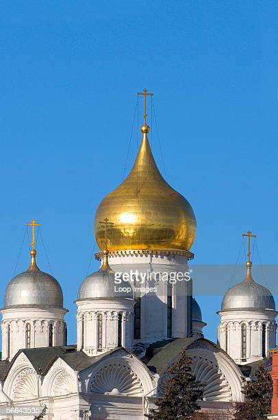 A view of the Archangel Cathedral at the Kremlin in Moscow