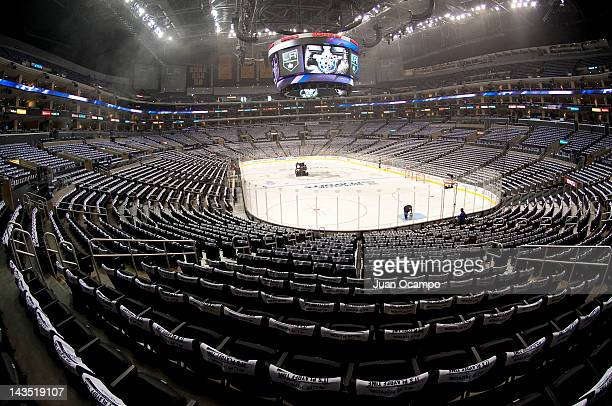 A view of the arena prior to the gmae between the Los Angeles Kings and the Vancouver Canucks in Game Four of the Western Conference Quarterfinals...