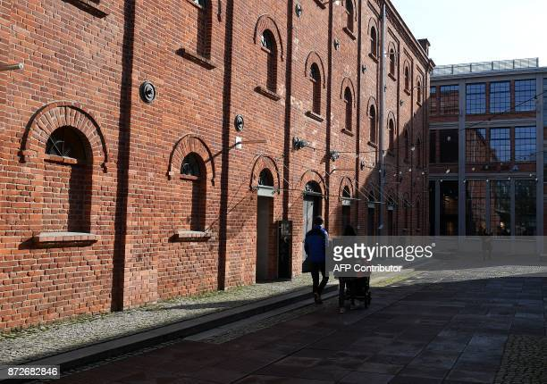 A view of The Art Factory in Lodz Poland on November 4 the former textile factory now offers coworking space exhibitions concerts and support for...