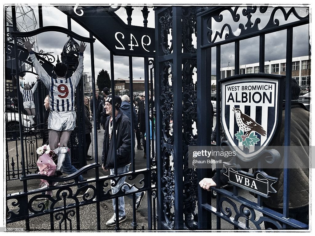 A view of the Astle gates prior to the Barclays Premier League match between West Bromwich Albion and West Ham United at The Hawthorns on April 30, 2016 in West Bromwich, England.