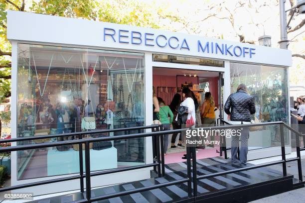 "A view of the atmosphere at designer Rebecca Minkoff's Spring 2017 ""See Now Buy Now"" Fashion Show at The Grove on February 4 2017 in Los Angeles..."