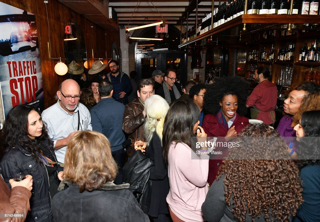 A view of the atmosphere at post screening reception for DOC NYC Premiere of the HBO documentary film 'Traffic Stop' at Tertulia on November 14, 2017 in New York City.