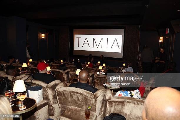 A view of the atmosphere at Tamia's Album Listening Event at Soho House on April 30 2015 in New York City