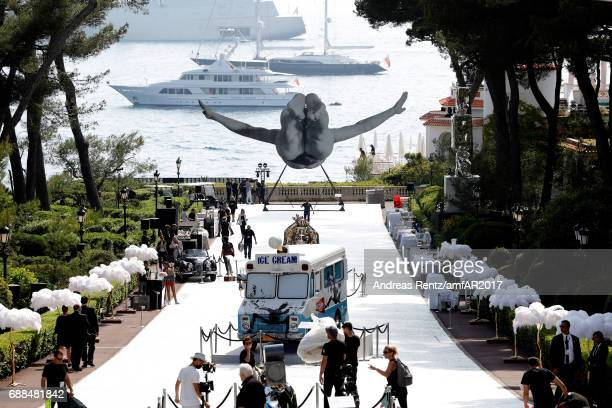 A view of the atmosphere at the amfAR Gala Cannes 2017 at Hotel du CapEdenRoc on May 25 2017 in Cap d'Antibes France