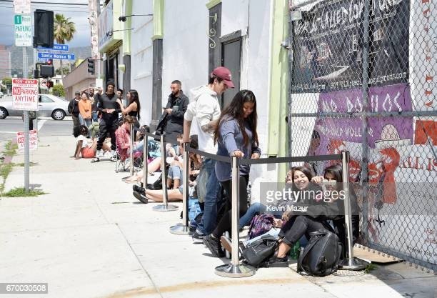 A view of the atmosphere at the FENTY PUMA by Rihanna Experience on April 18 2017 in Los Angeles California