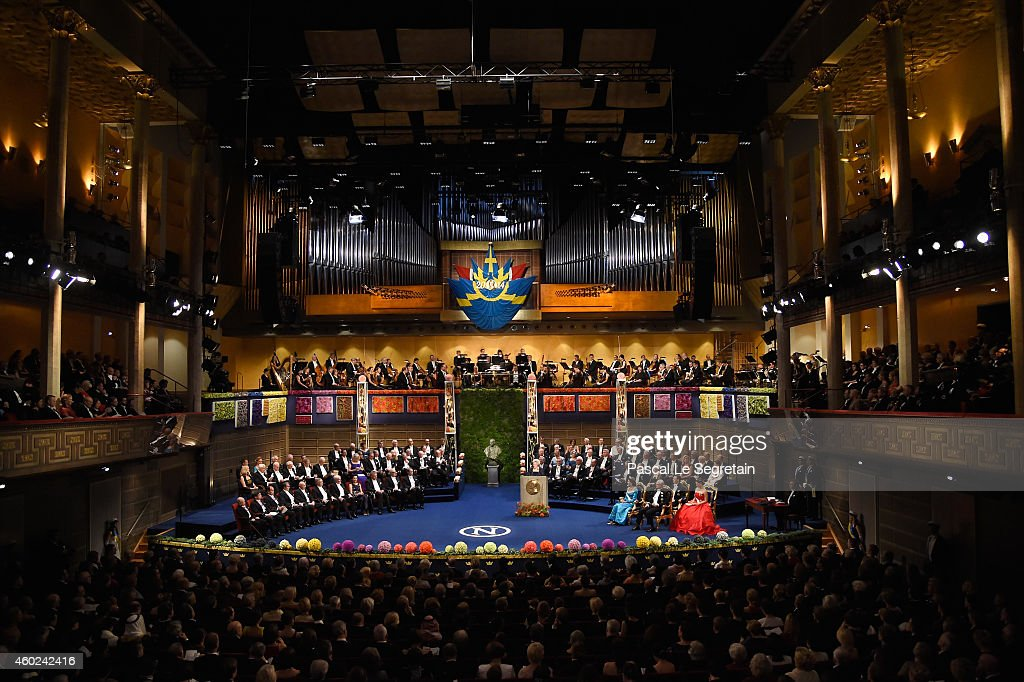 A view of the atmosphere at the Nobel Prize Awards Ceremony at Concert Hall on December 10, 2014 in Stockholm, Sweden.
