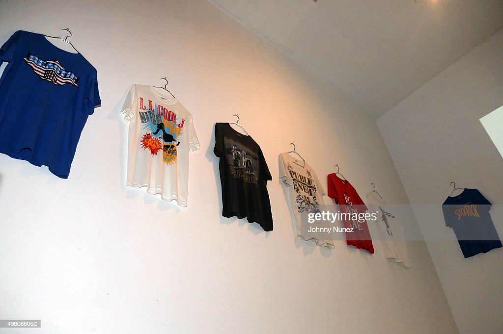 View of the atmosphere at the rap tees a collection of hip hop t