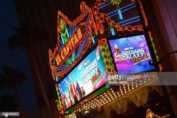 "A view of the atmosphere at The World Premiere of Marvel Studios' ""Guardians of the Galaxy Vol 2"" at Dolby Theatre in Hollywood CA April 19th 2017"