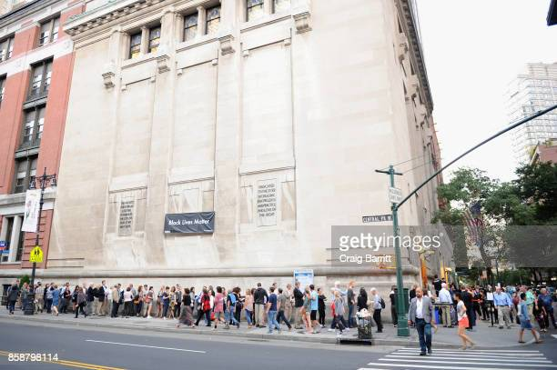 A view of the atmosphere before panel PTSD with Andy Borowitz and Friends at New York Society for Ethical Culture on October 7 2017 in New York City