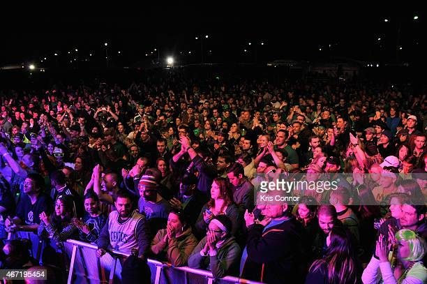 A view of the audience at America's largest St Paddy's day Celebration ShamrockFest on March 21 2015 in Washington DC The festival takes place every...