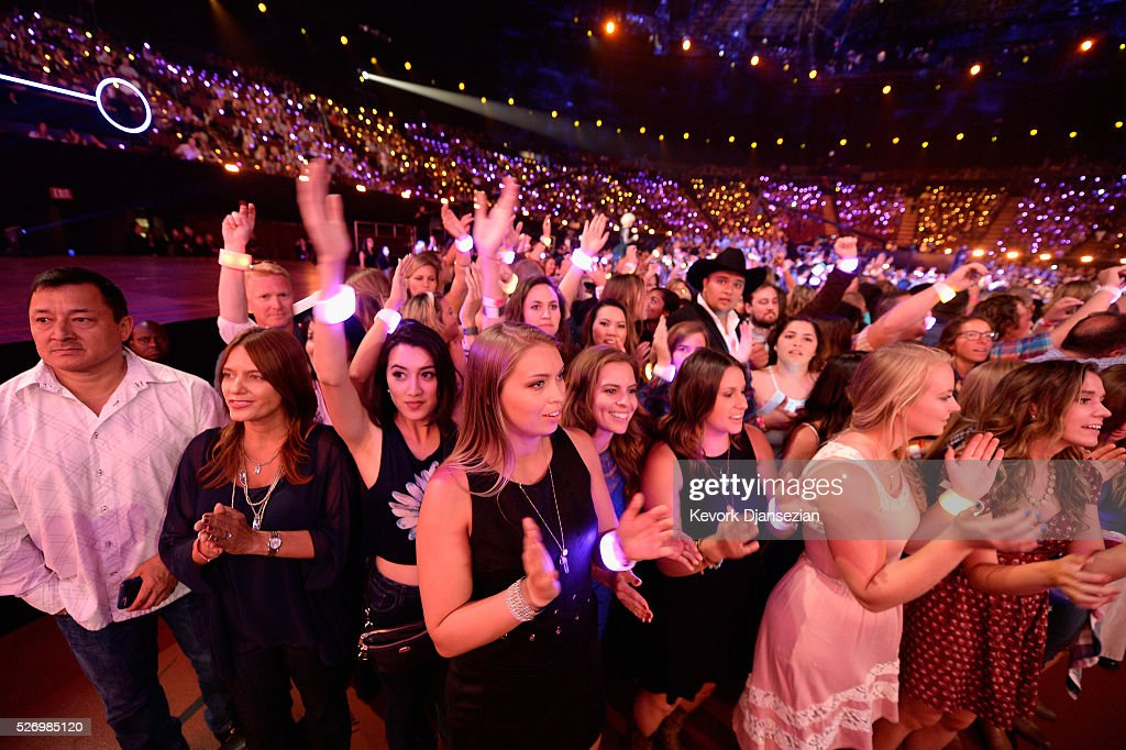 A view of the audience at the 2016 American Country Countdown Awards at The Forum on May 1, 2016 in Inglewood, California.