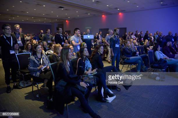 A view of the audience at the Film Keynote during 2017 SXSW Conference and Festivals at Austin Convention Center on March 11 2017 in Austin Texas