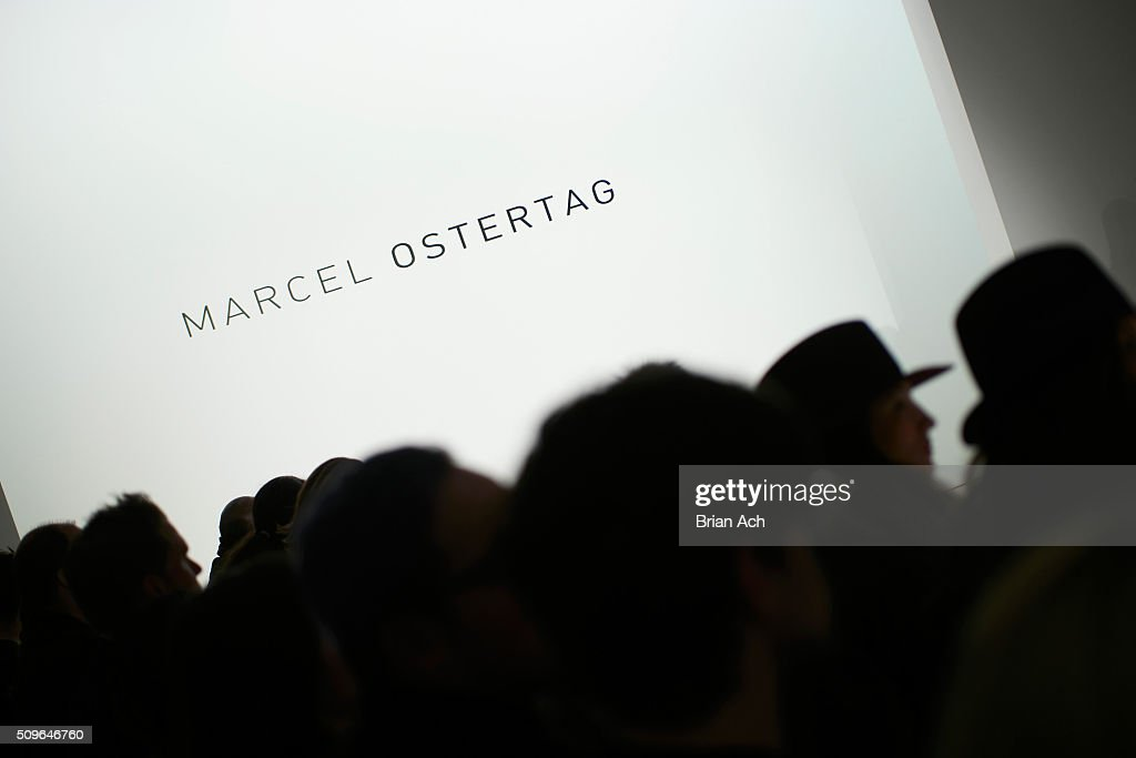 View of the audience during the Marcel Ostertag - Front Row at The Gallery, Skylight at Clarkson Sq on February 11, 2016 in New York City.