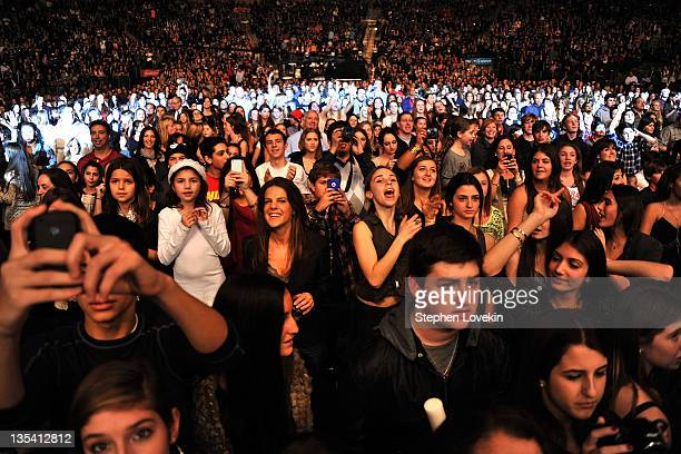 A view of the audience during Z100's Jingle Ball 2011 presented by Aeropostale at Madison Square Garden on December 9 2011 in New York City