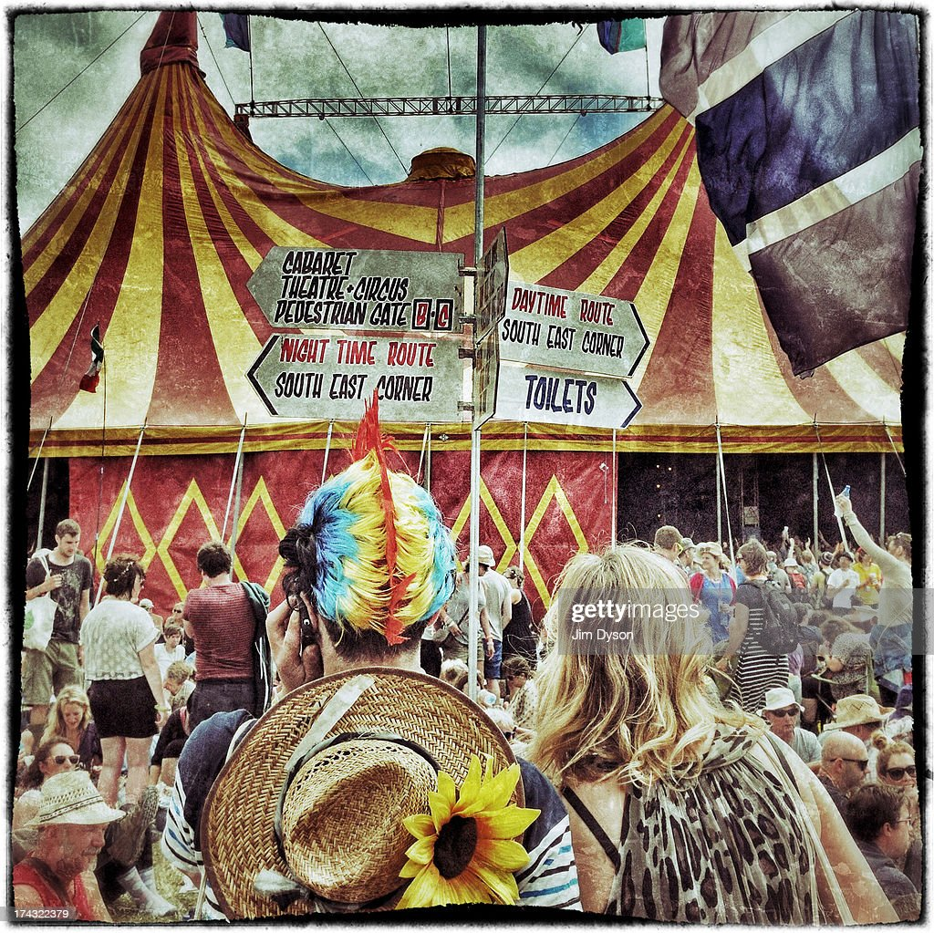 A view of the Avalon stage during day 4 of the 2013 Glastonbury Festival at Worthy Farm on June 30, 2013 in Glastonbury, England.