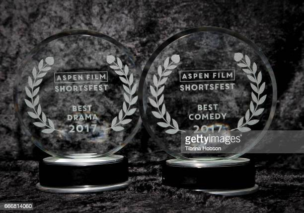 A view of the awards at the 2017 Aspen Shortsfest Awards Dinner on April 9 2017 at Aspen Kitchen in Aspen Colorado