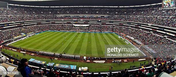 A view of the Azteca Stadium during the Mexico vs New Zealand FIFA World Cup intercontinental playoff match in Mexico City on November 13 2013 AFP...
