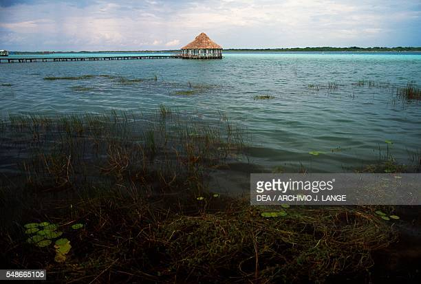 View of the Bacalar lagoon Quintana Roo Mexico