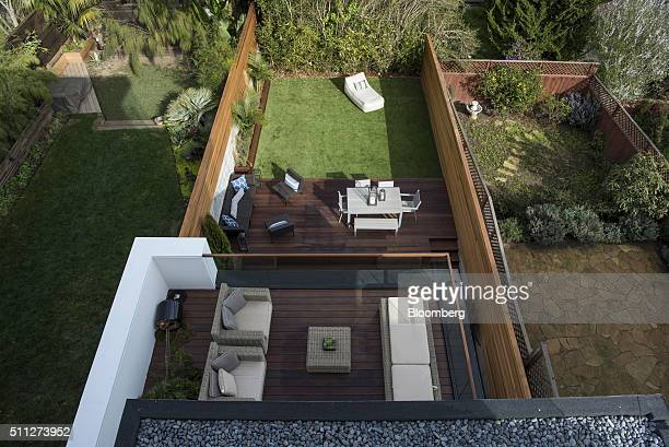 A view of the backyard and deck from a house listed at US$ 549 million is seen in San Francisco California US on Friday Feb 12 2016 Theres a new...