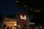 A view of the Bai tent at dusk on day two at the Bai VIP Lounge during The Panorama Music Festival at Randall's Island on July 23 2016 in New York...
