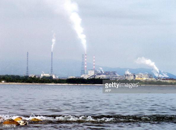 View of the Baikalsk cellulose plant near the Siberian town of Baikalsk 11 August 2003 The World Bank is to hand a cellulose plant on Russia's Lake...