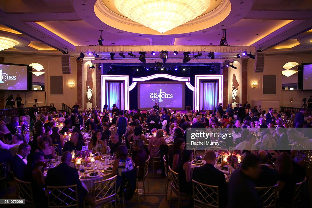 A view of the ballroom at the 41st Annual Gracie Awards at Regent Beverly Wilshire Hotel on May 24, 2016 in Beverly Hills, California.