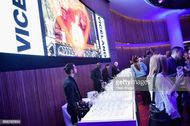 A view of the bar during the 2017 AE Networks Upfront At Jazz At Lincoln Center's Frederick P Rose Hall on March 21 2017 in New York City