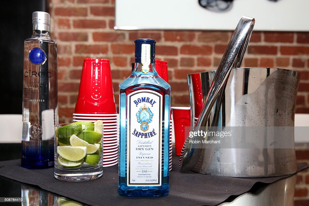 A view of the bar during the Fanatics Super Bowl Party on February 6, 2016 in San Francisco, California.