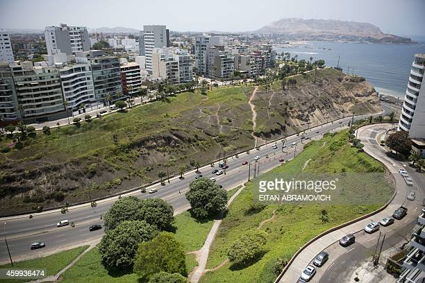 View of the Barranco's district in Lima's coastline during the UN COP20 and CMP10 conferences on December 4 2014 The UN 20th session of the...