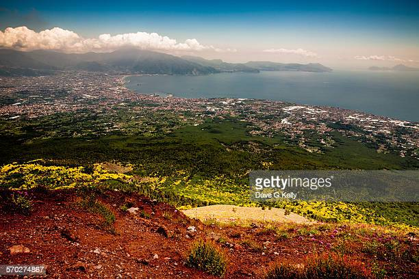 View of the Bay of Naples from Mount Vesuvius