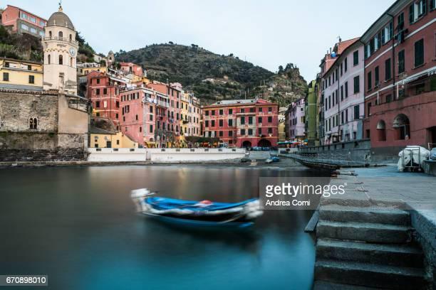 View of the bay of Vernazza. Vernazza, Cinque Terre, La Spezia, Liguria