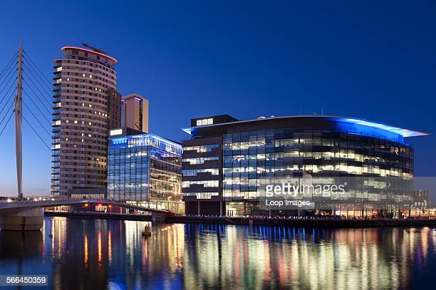 A View of the BBC Offices and Studios at Media City in Salford Quays