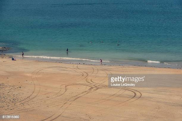View of the beach in Saint-Malo, France