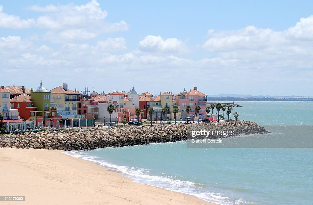 View of the beach of Puerto Sherry in Cadiz