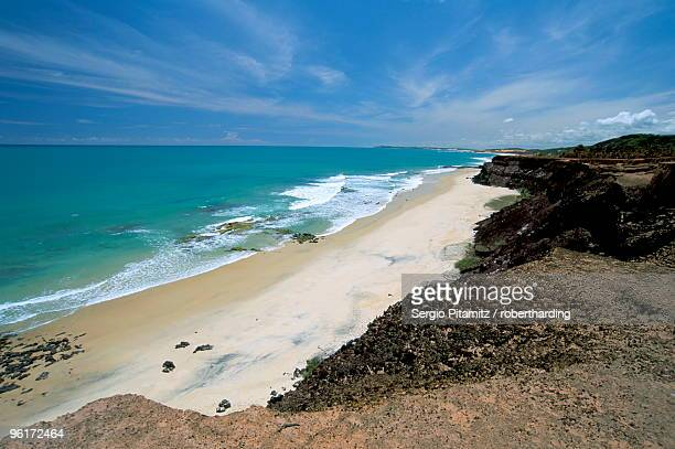 View of the beaches from plateau, Pipa, Natal, Rio Grande do Norte state, Brazil, South America