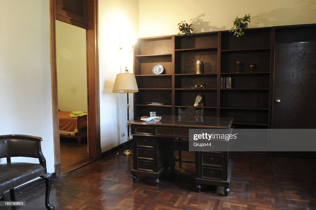 View of the bedroom where Pope Francis lived while studying for priest at Colegio maximo San Miguel on March 15, 2013 in San Miguel, Buenos Aires, Argentina. Since his election as new Pope of the Catholic Church, international media outlets have pointed out the austere life of the former Argentine Archbishop. Jorge Mario Bergoglio, now known as Pope Francis, spent his early years in the neighborhood of Flores, in Buenos Aires City, where he was born on December 17th of 1936. He is one of the five children of a couple of Italian inmigrants. He graduated as a chemistry technician at E.N.E.T Nº 27 Hipólito Yrigoyen School and when he was 21 he decided to join the Catholic Seminary in Villa Devoto, Buenos Aires. Member of the Jesuits, he became a priest on December of 1969. He graduated in Philosophy from the Colegio Máximo San José in San Miguel, in the outskirts of Buenos Aires. In 1992 he was appointed Bishop of Buenos Aires. Six years later, he replaced Antonio Quarracino. In 2001 was created a cardinal by Pope John Paul II with the title of cardinal-priest of San Roberto Bellarmino. He had several administrative positions in the Roman Curia. On March 13th of 2013, he was elected Pope by the Conclave. Francis, as he decided to be called in honor to the Saint Francis of Asis, is the Pope number 266 and the first non-European pontiff of the new era.